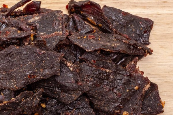 hot jerky closeup